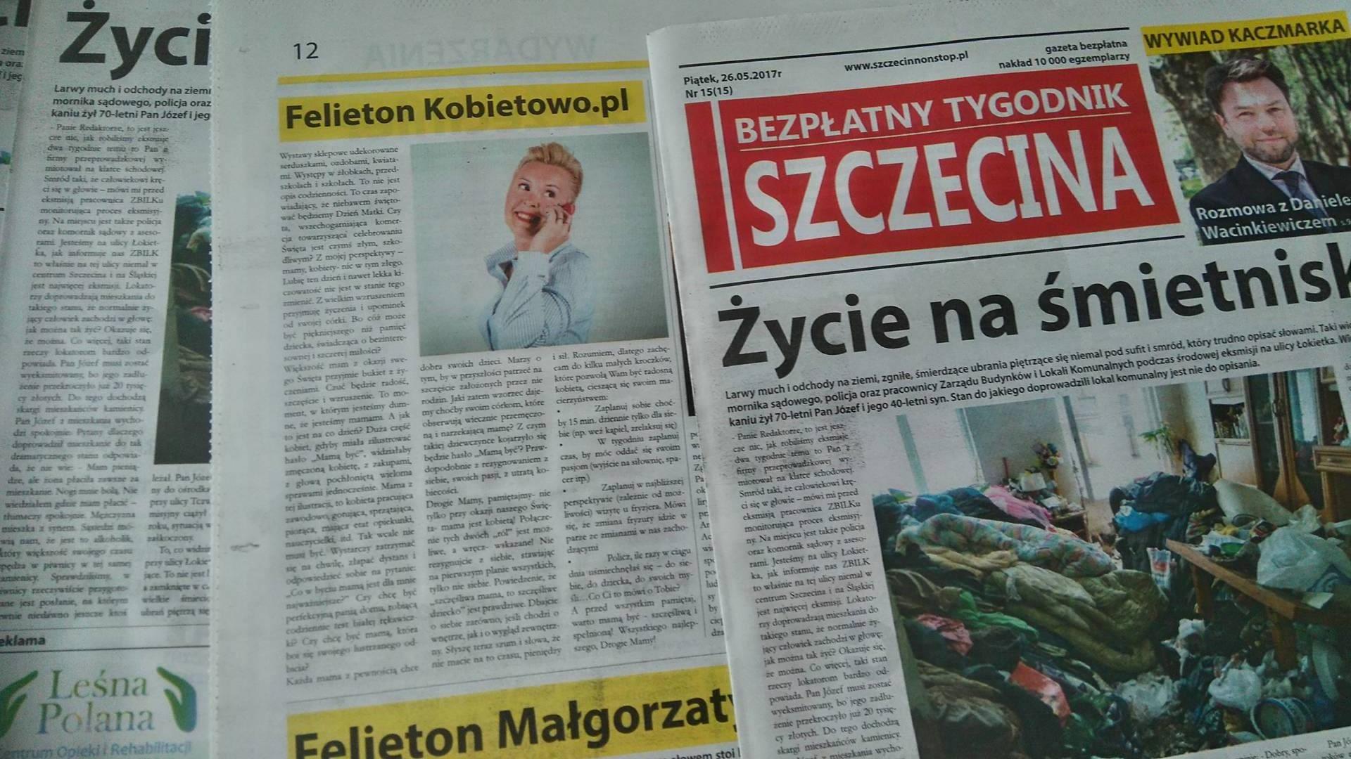 """""""Mamą być"""" Bezpłatny Tygodnik Szczecina. Felieton Kobietowo.pl cz.IV"""